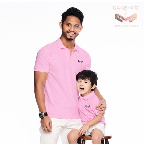 Men's Polo Tee in Pink