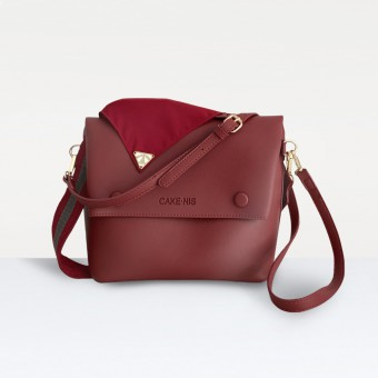 The Nadia Bag in Maroon