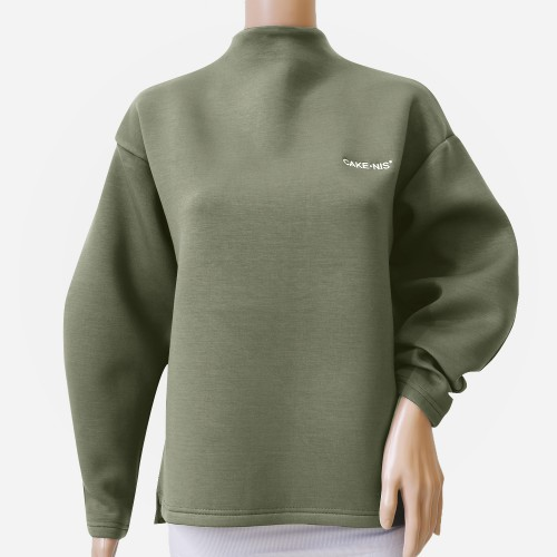 Cakenis Puff Jumper in Olive Green